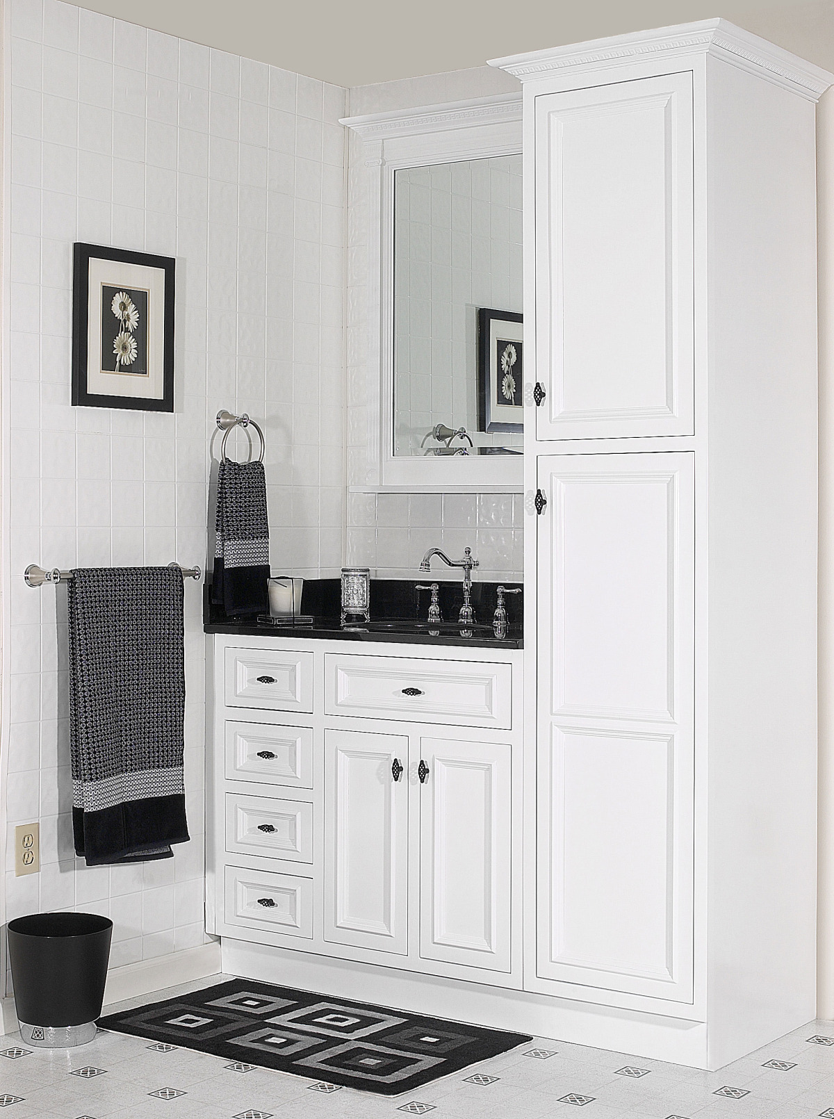 Bathroom vanity premium kitchen cabinets for Can you use kitchen cabinets in bathrooms